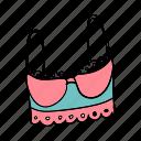 bra, bralette, clothes, lace, longline bra, top, underwear icon
