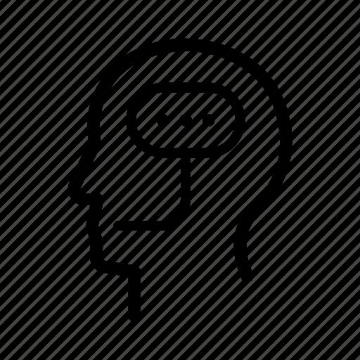 activity, brain, idea, talking, think, thinking, thought icon