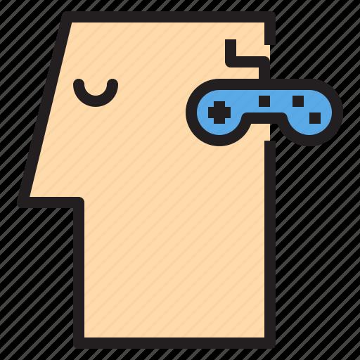 brain, gamer, human, idea, mind, think icon