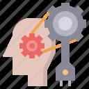 brain, creativity, idea, industry, power, strategy, think icon