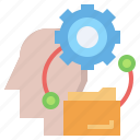 creativity, idea, industry, interface, strategy, think, workflow icon