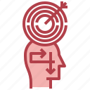 brain, creative, process, strategy, temper icon