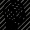 focus, head, human head, mind, target, thinking icon