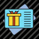 advertising, branding, branding identity, card, gift card, gift voucher, marketing icon