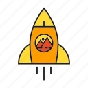 launch, marketing campaign, rocket, spaceship, start, startup icon