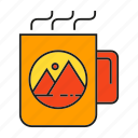 beverage, branding, branding identity, coffee, cup, drinks, hot icon