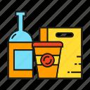 bottle, branding, branding identity, cup, packaging, retail, shopping