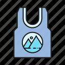 branding, branding identity, garment, singlet, undershirt, vest icon