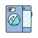 branding, branding identity, device, smartphone, smartphone case icon