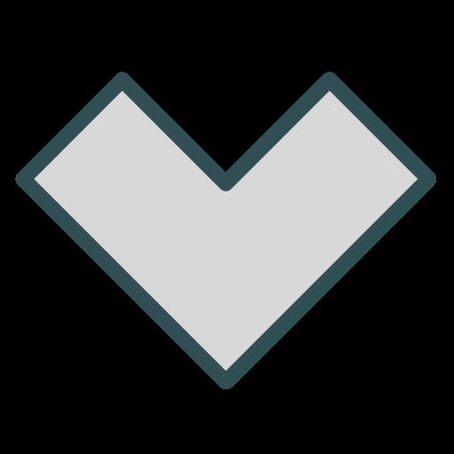 arrow, polygon, shape, triangle icon