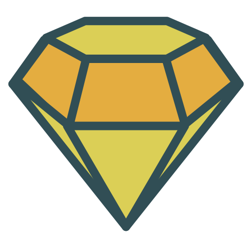 brand, diamond, jewel, precious, stone icon
