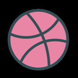 basketball, brand, dribbble, game, sport icon