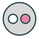 avatar, brand, circle, flickr, robot, shape icon