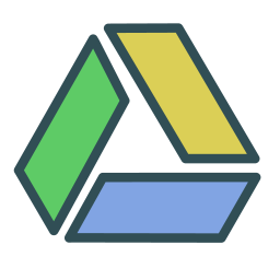 brand, drive, google, storage, triangle icon