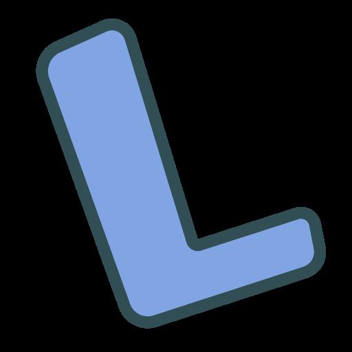 brand, l, letter, single icon