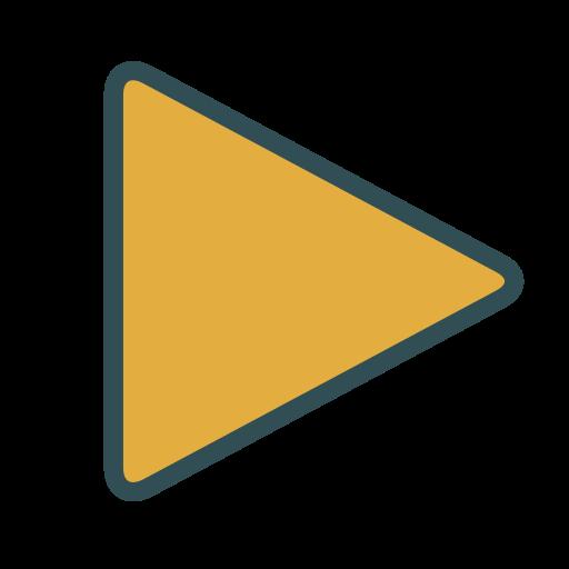 media, play, shape, triangle icon