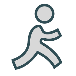 brand, figure, man, social, stick icon