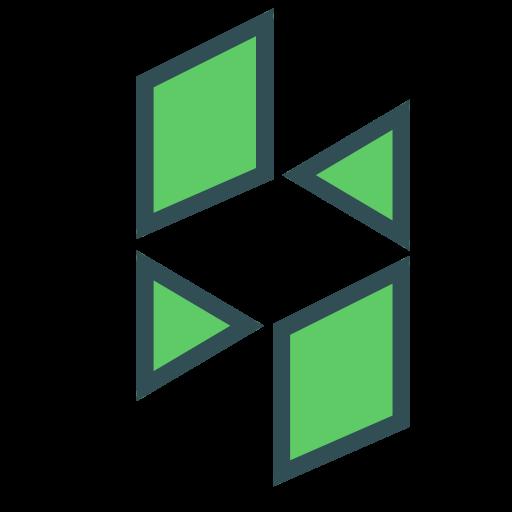 figure, polygon, shape, triangle icon