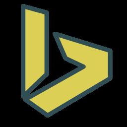brand, letter, single, v icon