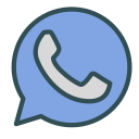 brand, circle, phone, shape, whatsapp icon