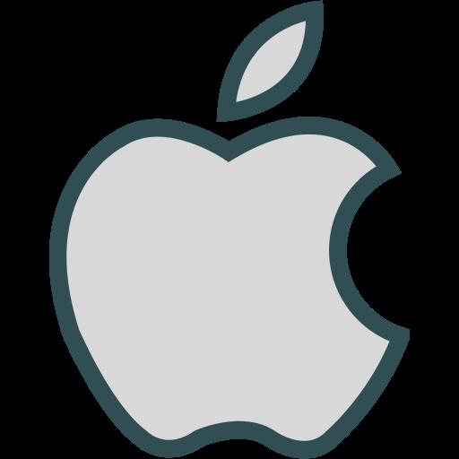 apple, brand, logo, network, social icon
