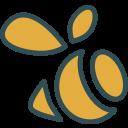 brand, logo, network, social, swarm icon