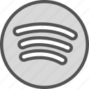 brand, logo, network, social, spotify icon