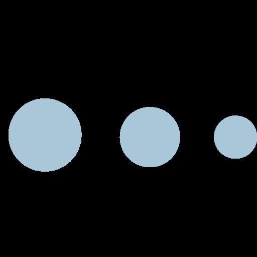 brand, chat, circles, shape icon