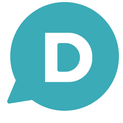 brand, chat, circle, d, letter, single icon