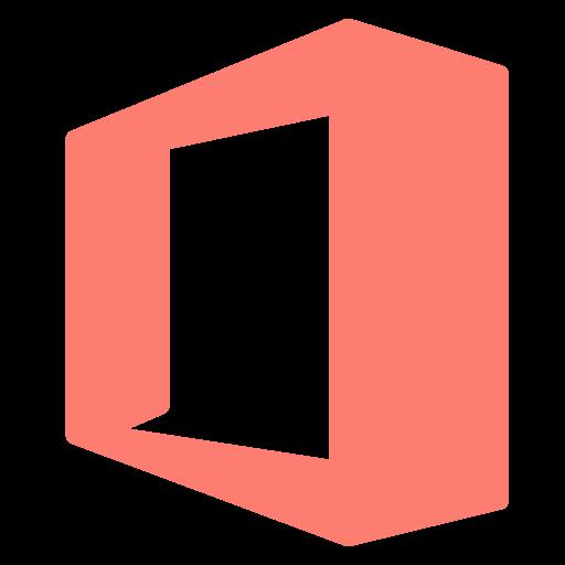 brand, letter, o, single, square icon
