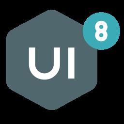 brand, design, network, ui8 icon