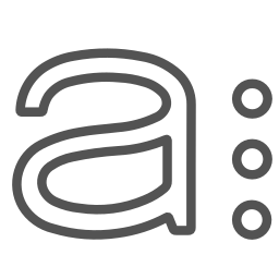 a, brand, circles, letter, single icon