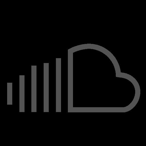 brand, cloud, network, share, sound, storage icon