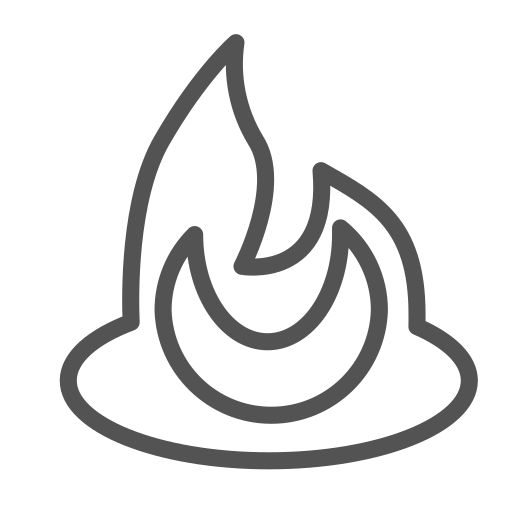 brand, figure, fire, shape icon