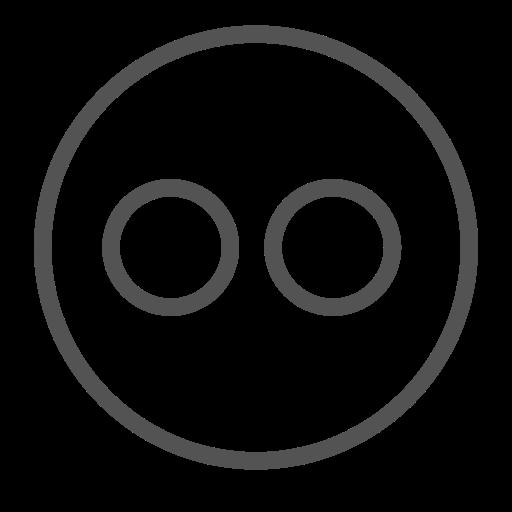 avatar, brand, circle, flickr, robot, shape icon