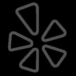 brand, circle, shape, triangle icon