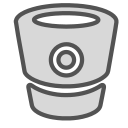 brand, container, robot, tech, technology icon
