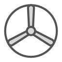 brand, disk, fan, shape icon