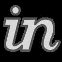 brand, letter, linkedin, media, share, social icon