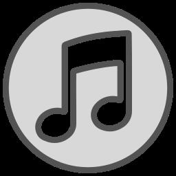 brand, circle, music, note, shape icon