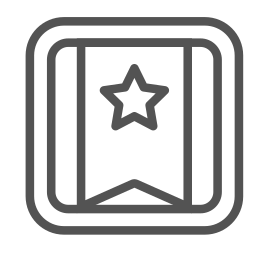 banner, brand, square, star icon