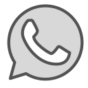 brand, circle, phone, shape, whatsapp icon