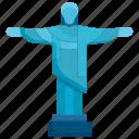 brazil, christ, jesus, landmark, monument, religion, travel icon