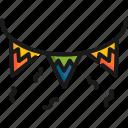 celebration, confetti, decoration, event, festival, flag, holiday