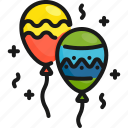 balloon, celebration, decoration, fan, fun, holiday, party icon