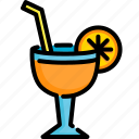 beverage, drink, fresh, fruit, glass, juice, orange icon