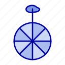 circus, cycle, wheel icon