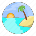 beach, island, summer, tropical icon