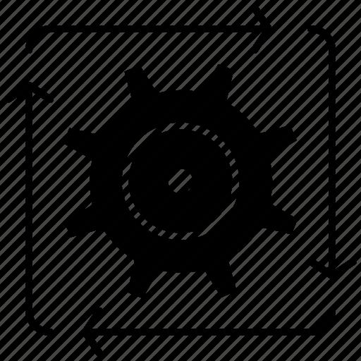 automation, development, flow, operation, workflow icon