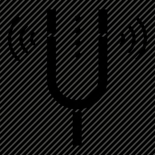 Concert, fork, kamerton, pitch, reference icon - Download on Iconfinder